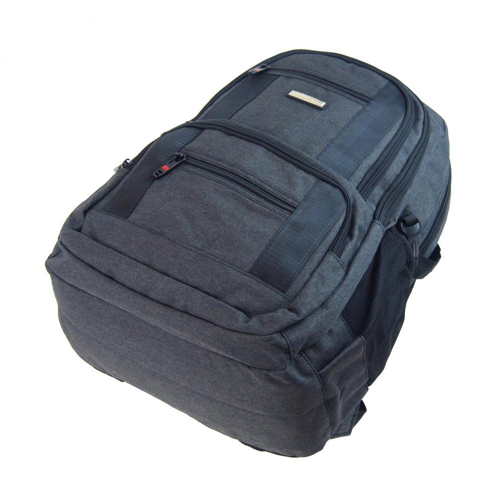 New Berry Elegantný polstrovaný školský batoh L18106 tmavo šedý