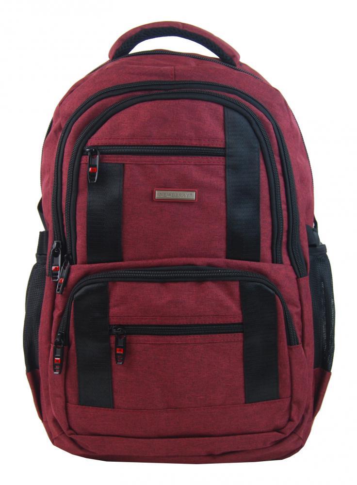 New Berry Elegantní polstrovaný školní batoh L18106 anticky červený