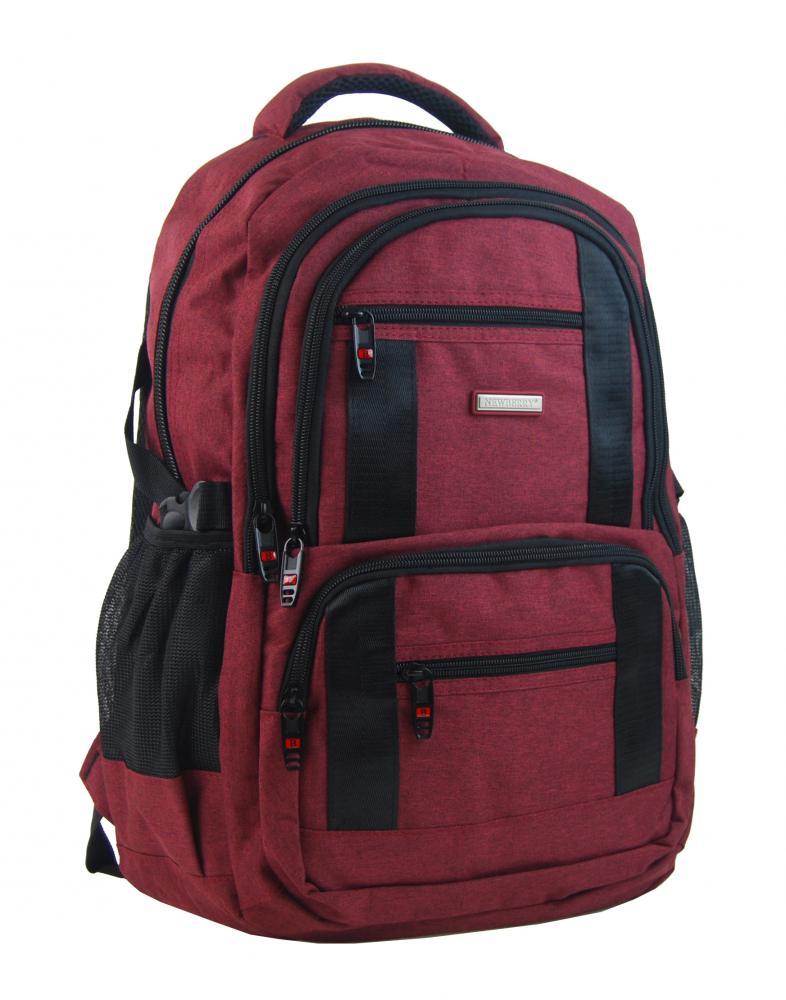 New Berry Elegantný polstrovaný školský batoh L18106 anticky červený