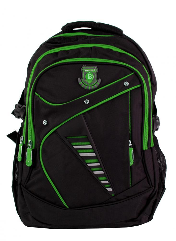 Väčší batoh NEWBERRY do školy aj na športovanie L1911 čierno-zelený