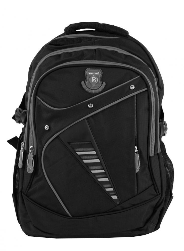 Väčší batoh NEWBERRY do školy aj na športovanie L1911 čierno-šedý