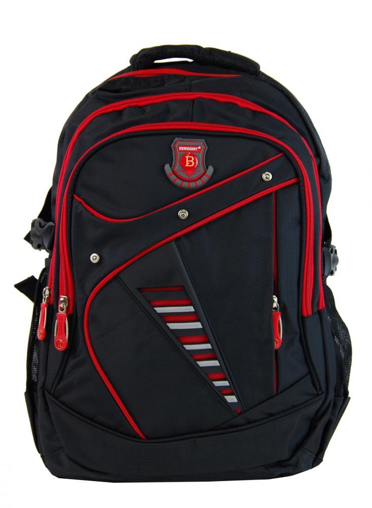 Väčší batoh NEWBERRY do školy aj na športovanie L1911 čierno-červený
