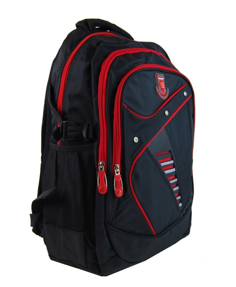 Větší batoh NEWBERRY do školy i na sportování L1911 černo-červený