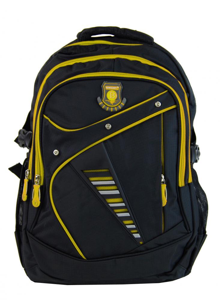 Väčší batoh NEWBERRY do školy aj na športovanie L1911 čierno-žltý