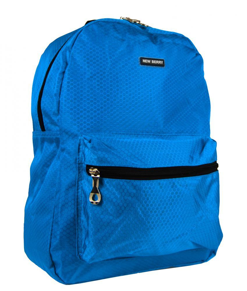 Světle modrý školní batoh