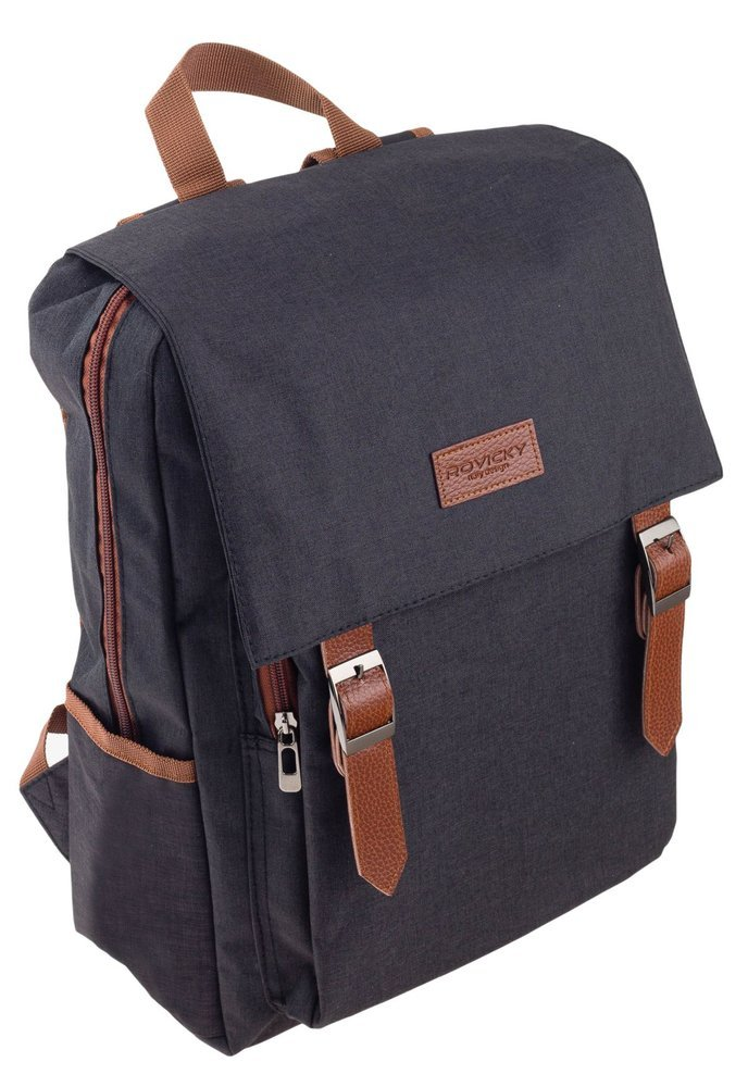 Čierny batoh s klopou pre notebook do 15,6 palca Rovicky