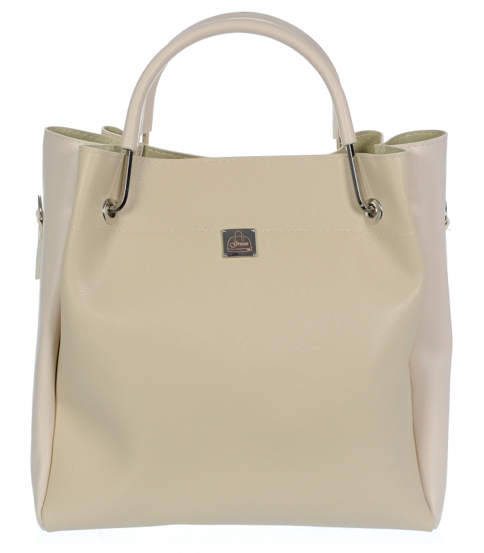 Béžová elegantní dámská kabelka S728 GROSSO