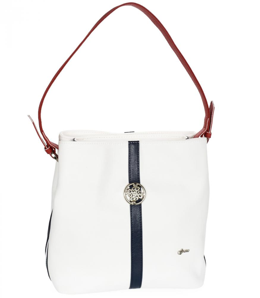 Bílo-modro-červená dámská kabelka přes rameno S404 GROSSO