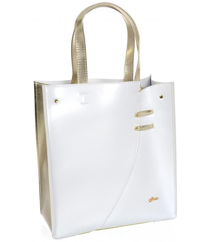 GROSSO Bílo-zlatá dámská kabelka S753