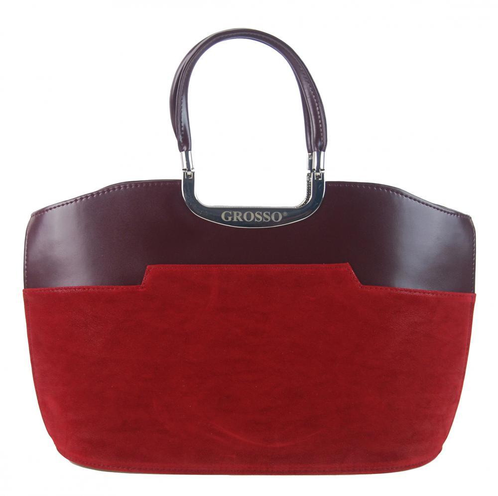 GROSSO Bordová dámská kabelka do ruky S5