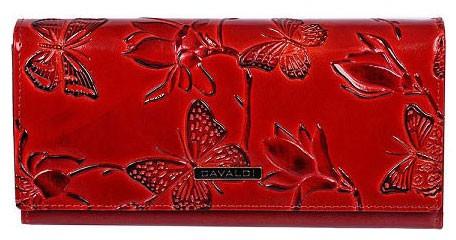 Cavaldi červená dámska kožená peňaženka v darčekovej krabičke