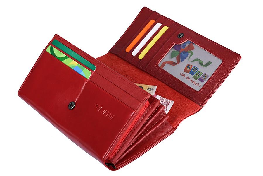 Cavaldi červená dámská kožená peněženka v dárkové krabičce