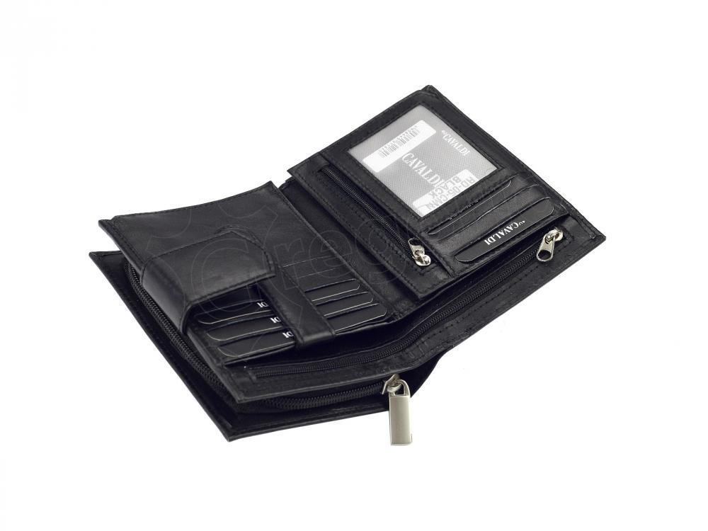 Cavaldi černá dámska kožená peňaženka v darčekovej krabičke