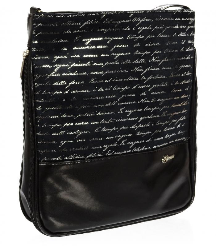 GROSSO Crossbody dámská kabelka s potiskem černá M151