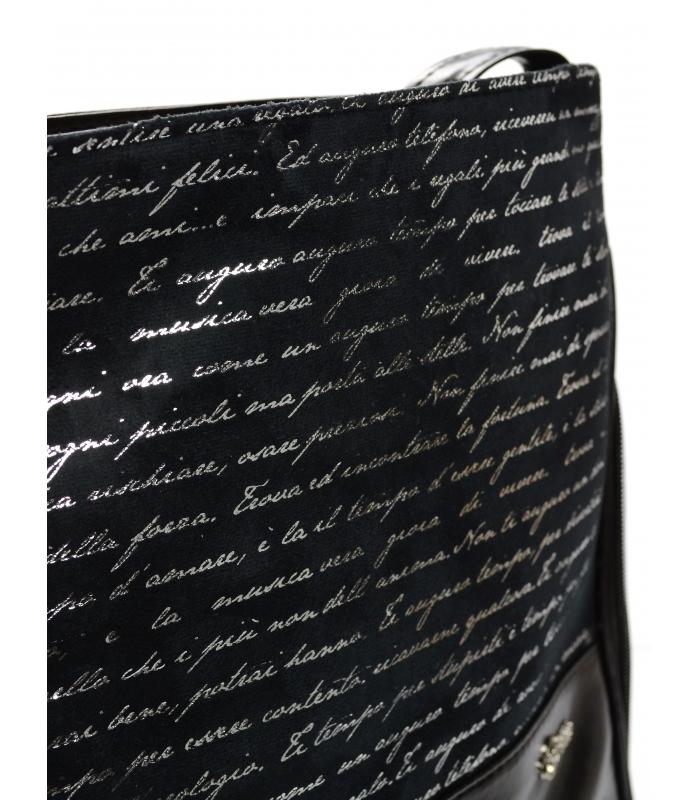 Černá crossbody kabelka s potiskem M151 GROSSO