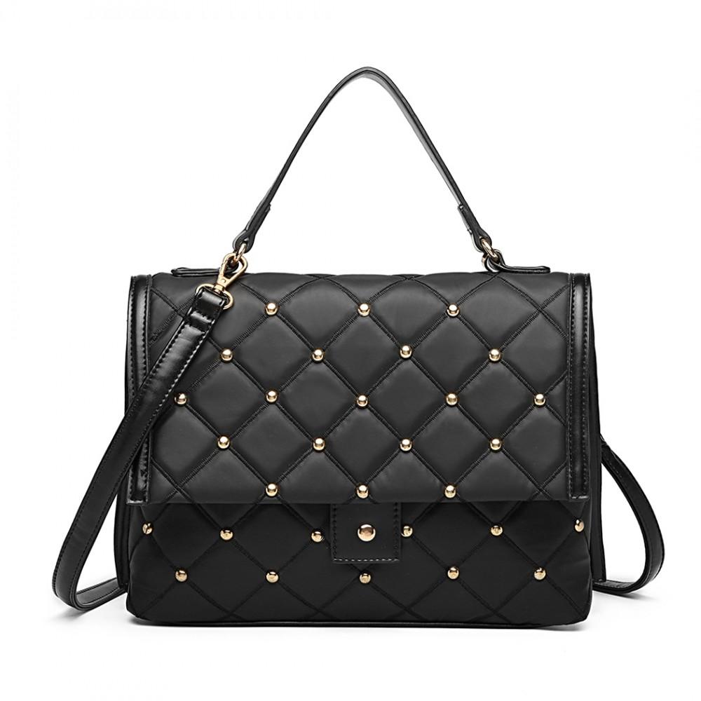 Čierna dámska kabelka do ruky aj crossbody Miss Lulu
