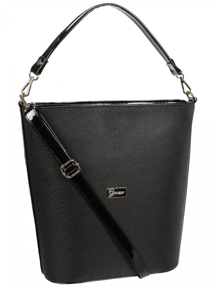 Černá velká dámská kabelka S583 GROSSO