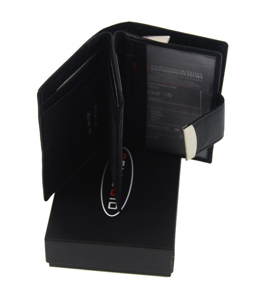 Bellugio černá pánská kožená peněženka v dárkové krabičce