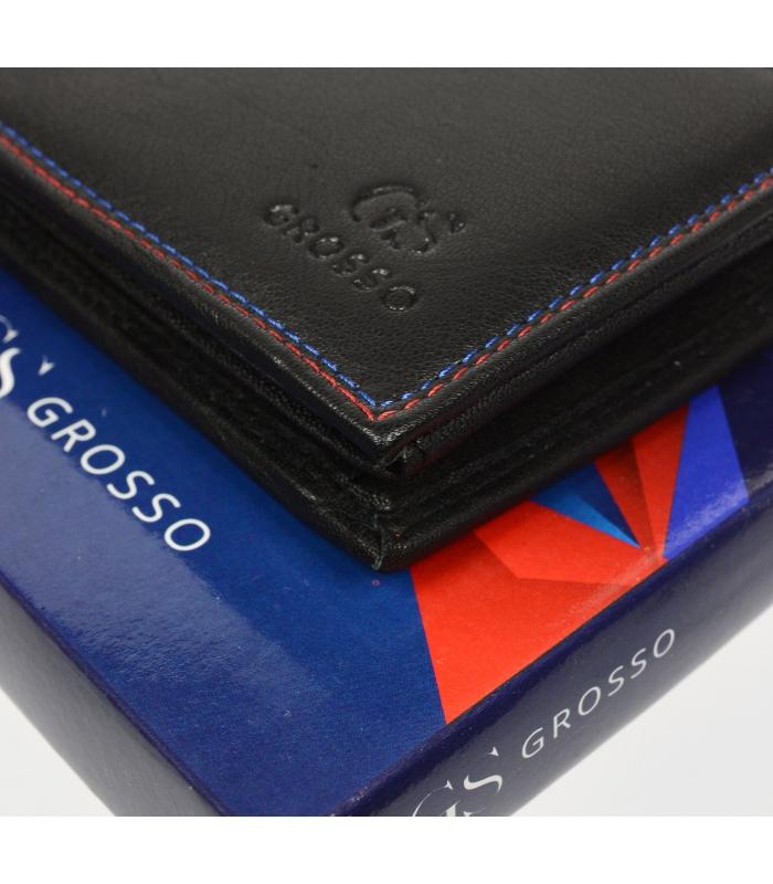 Černá pánská kožená peněženka v krabičce GROSSO