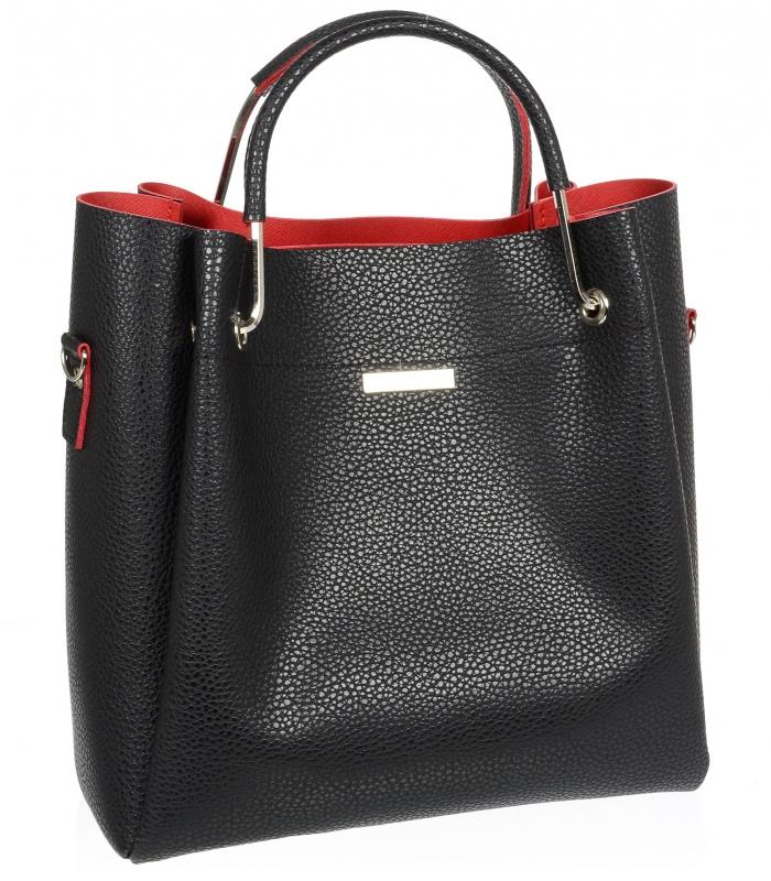 GROSSO černá luxusní dámská kabelka do ruky S728
