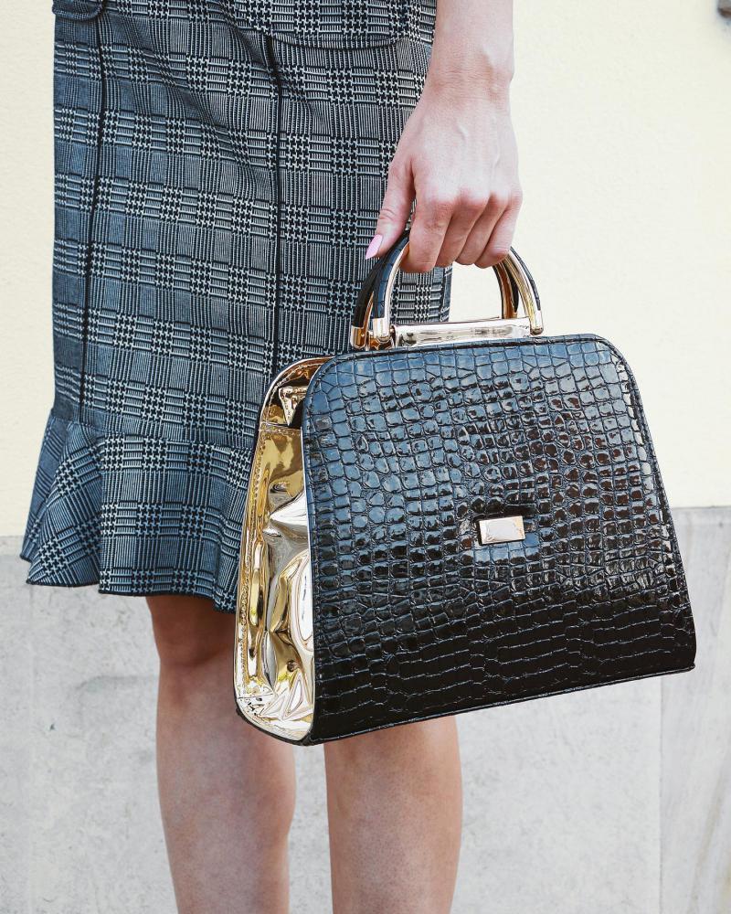 Luxusní bordová kabelka do ruky S81 GROSSO