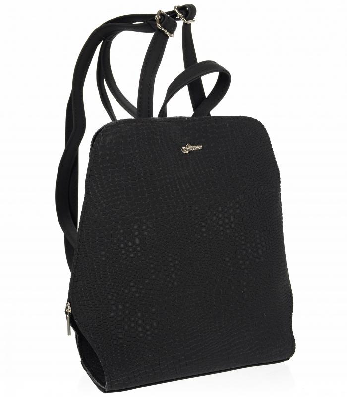 Elegantní dámský módní batůžek černý B04 GROSSO