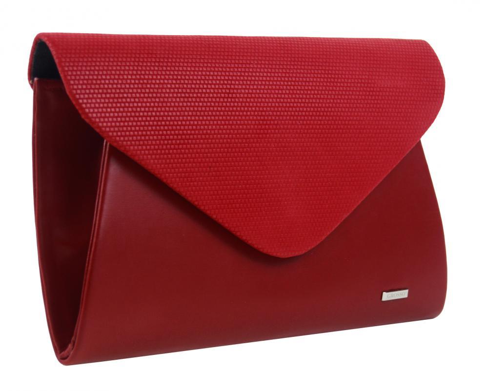 GROSSO luxusní dámské psaníčko červené