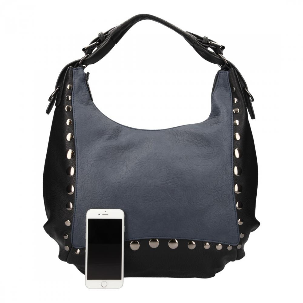 Veľká modrá dámska kabelka cez rameno Chantal Firenze