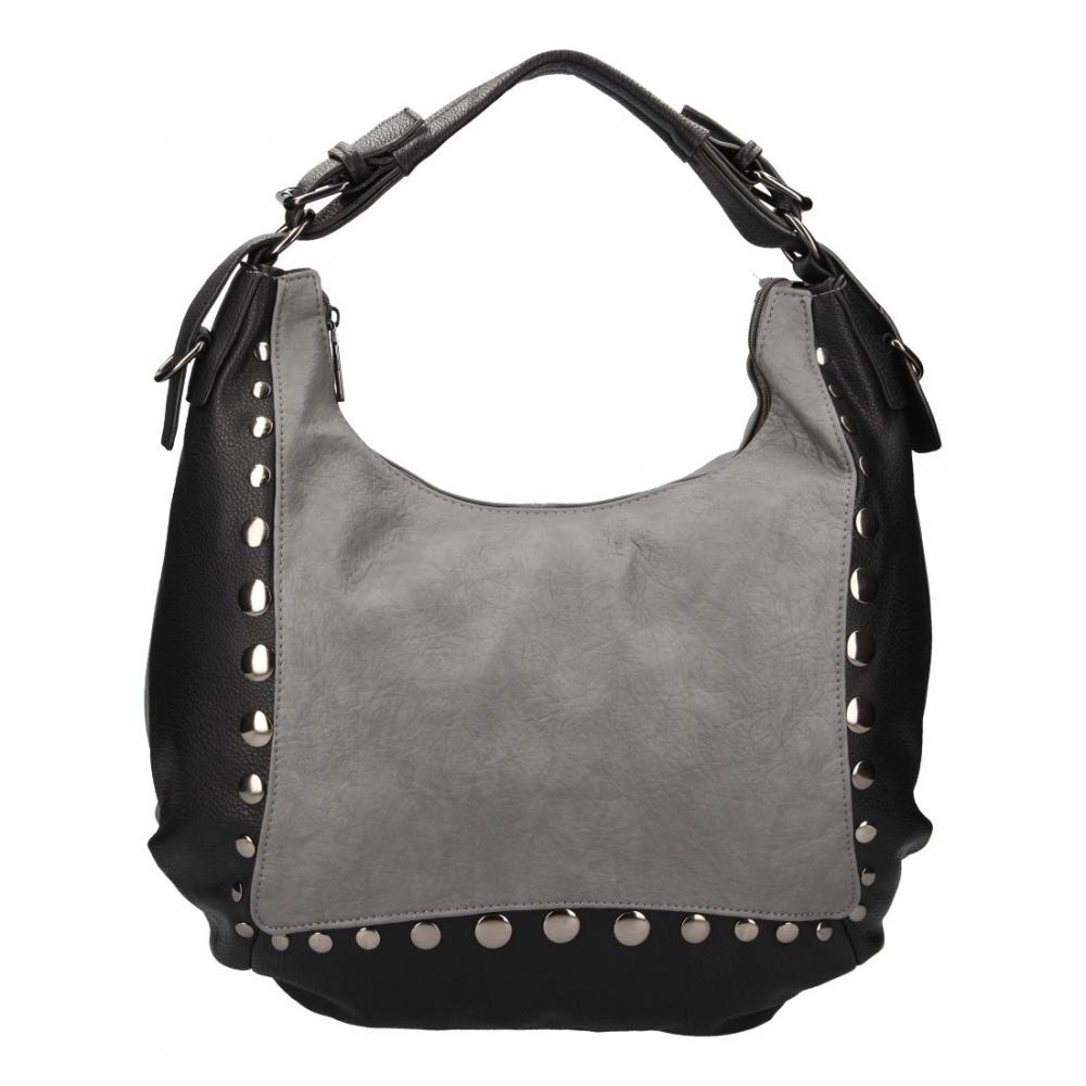 Velká šedá dámská kabelka přes rameno Chantal Firenze