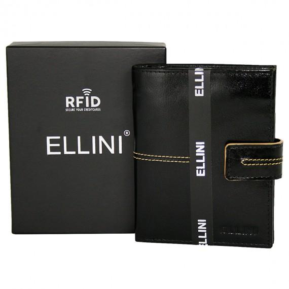 Ellini čokoládově hnědá pánská RFID luxusní kožená peněženka v dárkové krabičce