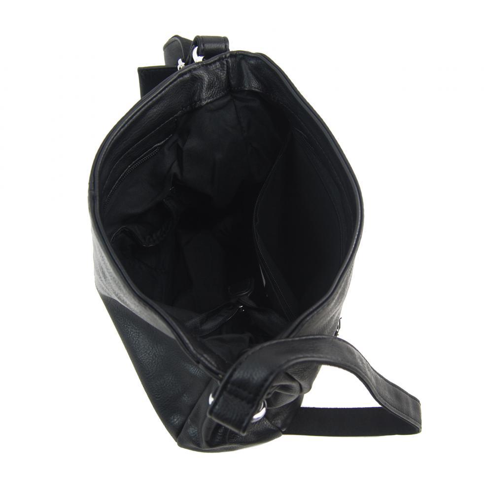 Černá dámská středně velká crossbody kabelka 1911-BB