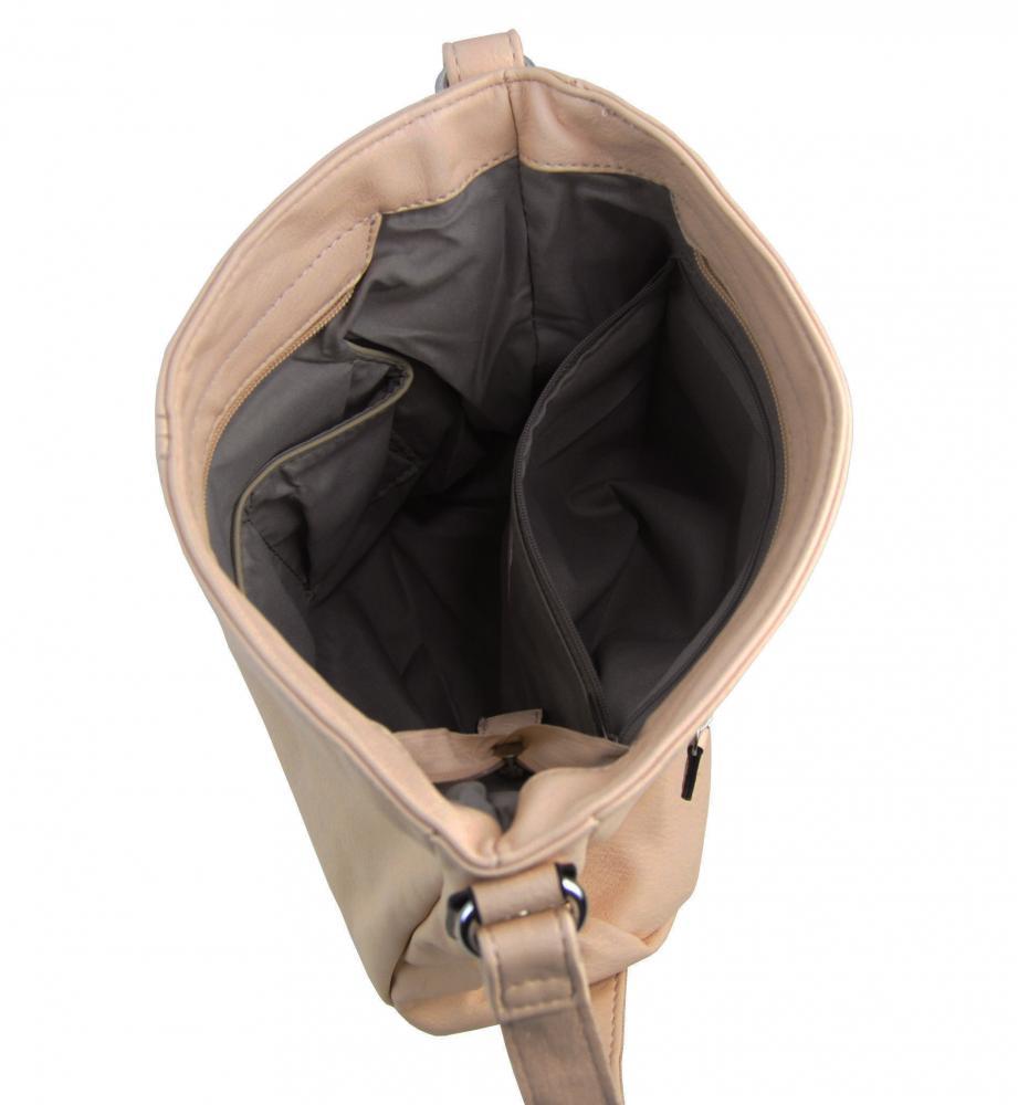 Meruňkově hnědá dámská středně velká crossbody kabelka 1911-BB
