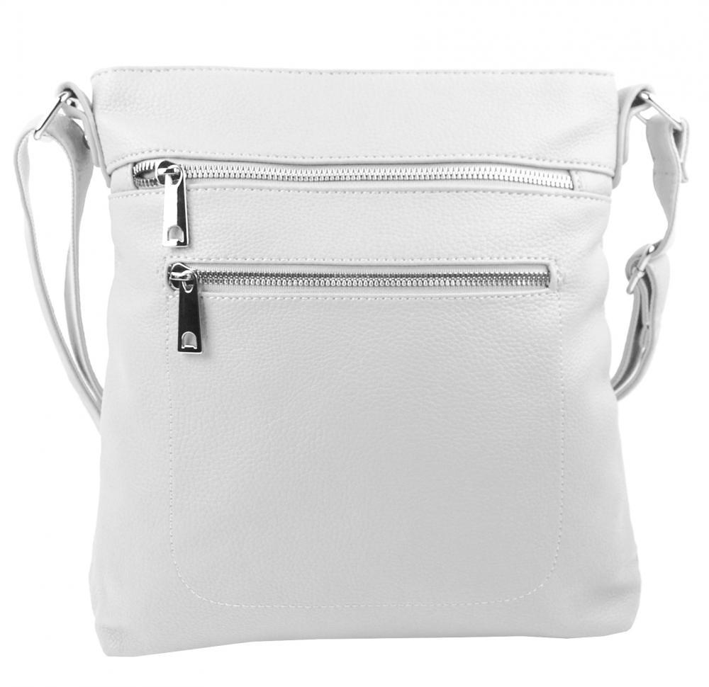 Bílá crossbody dámská kabelka MAHEL 336-MH