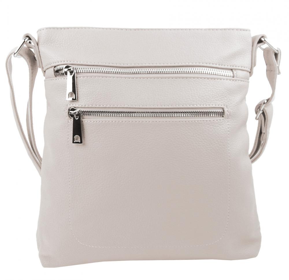 MAHEL Crossbody dámská kabelka béžová / krémová 336-MH