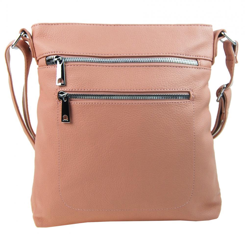 Růžová crossbody dámská kabelka MAHEL 336-MH