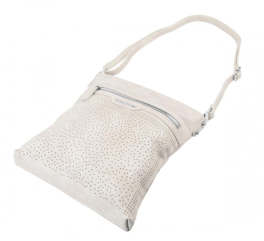 Béžová elegantní dámská crossbody kabelka 4151-MM