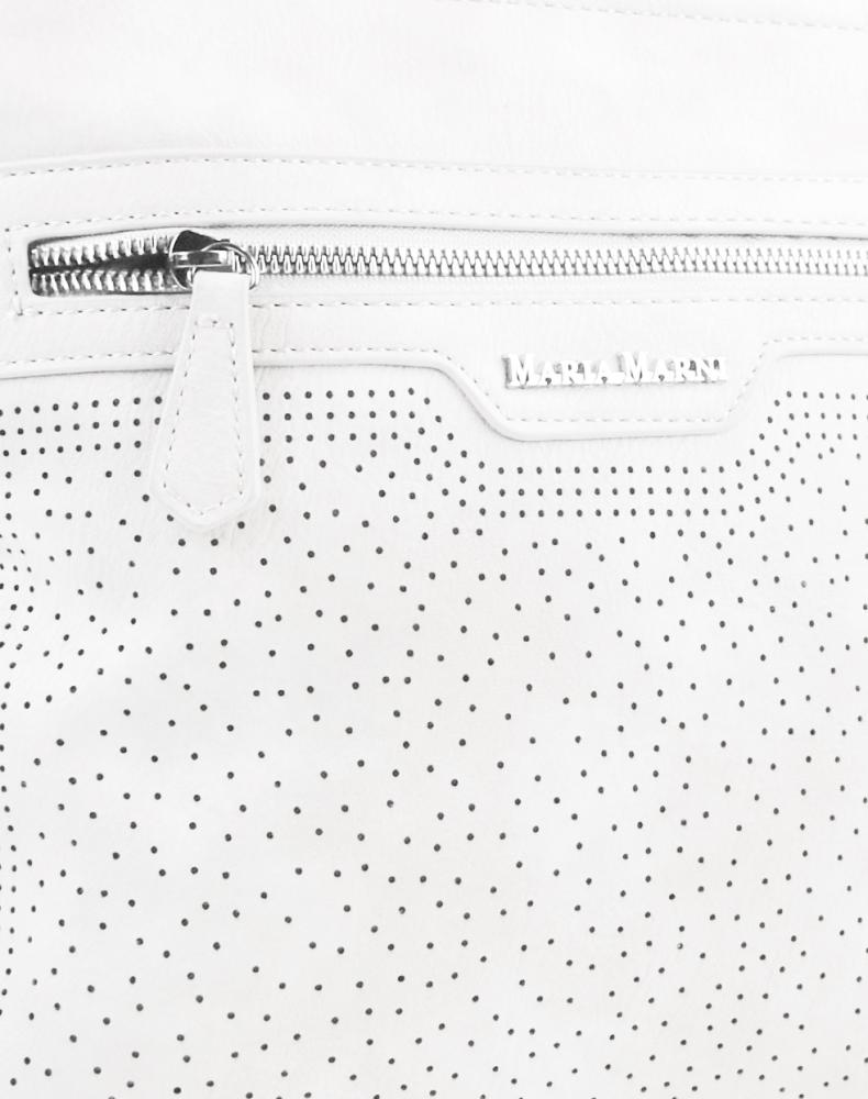 Bílá elegantní dámská crossbody kabelka 4151-MM