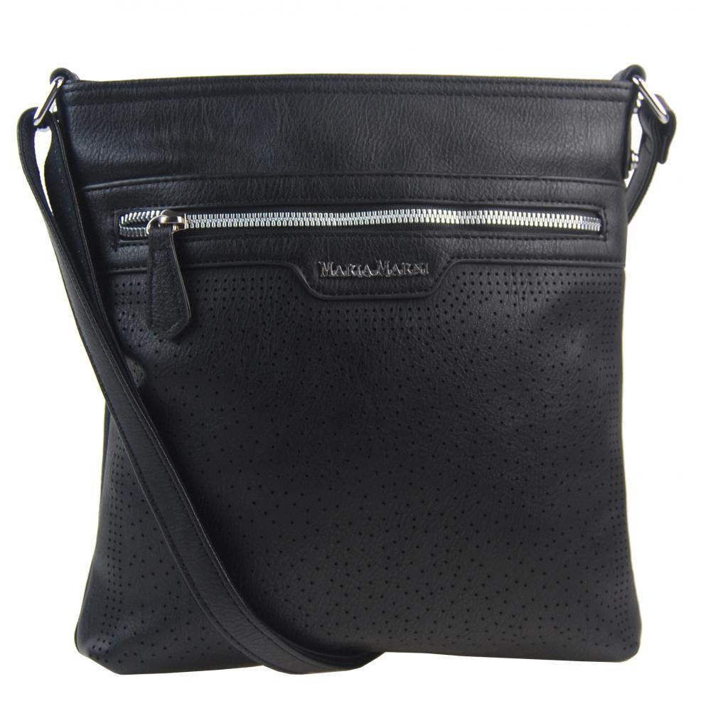 Černá elegantní dámská crossbody kabelka 4151-MM