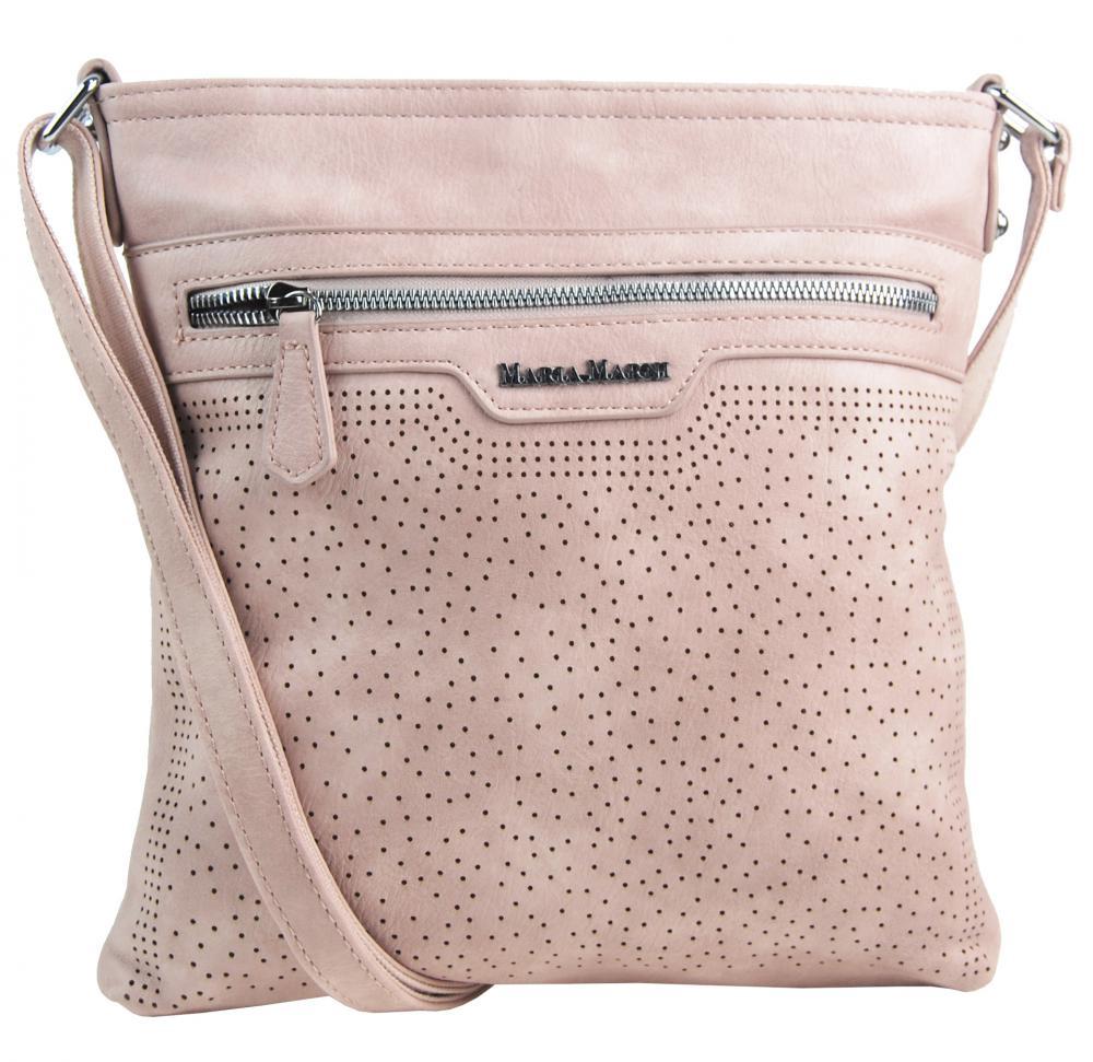 Růžová elegantní dámská crossbody kabelka 4151-MM