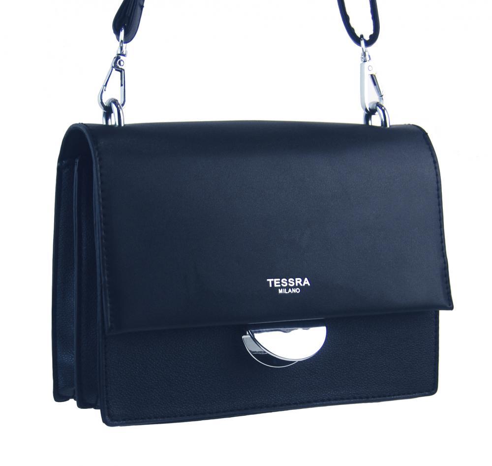Tmavě modrá menší crossbody dámská kabelka s klopou 4995-TS