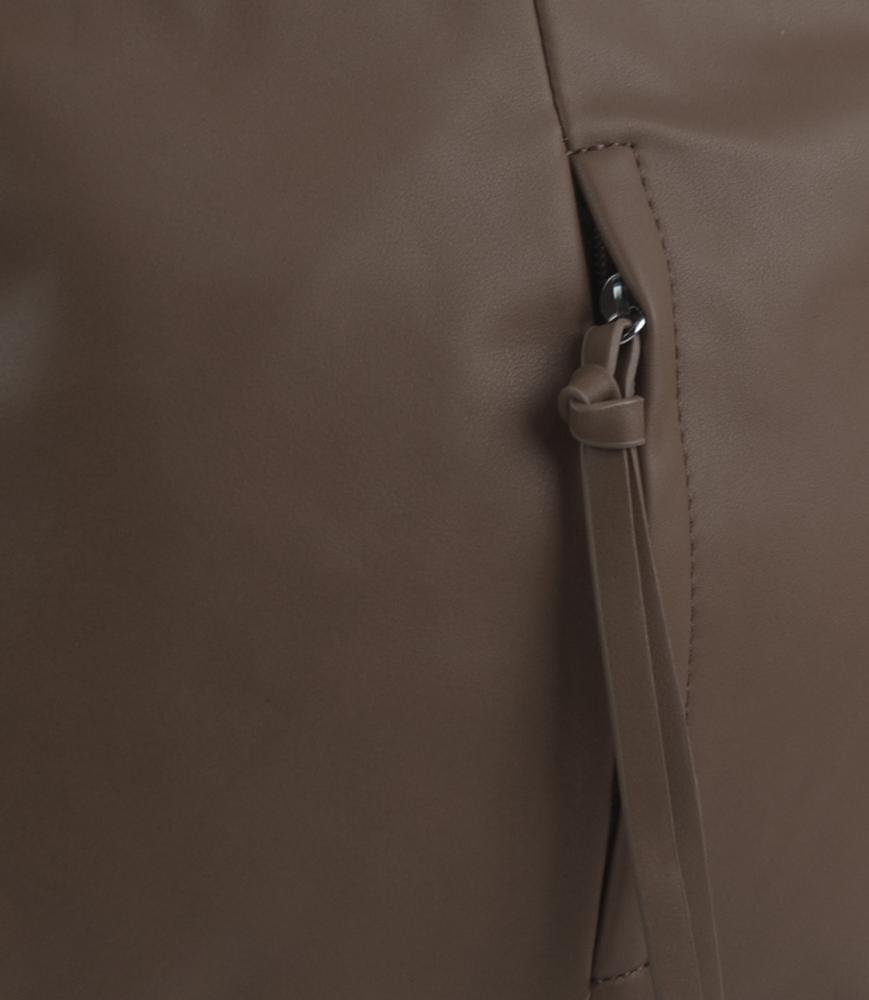 Blatistá hnedá stredne veľká crossbody dámska kabelka 5049-BB