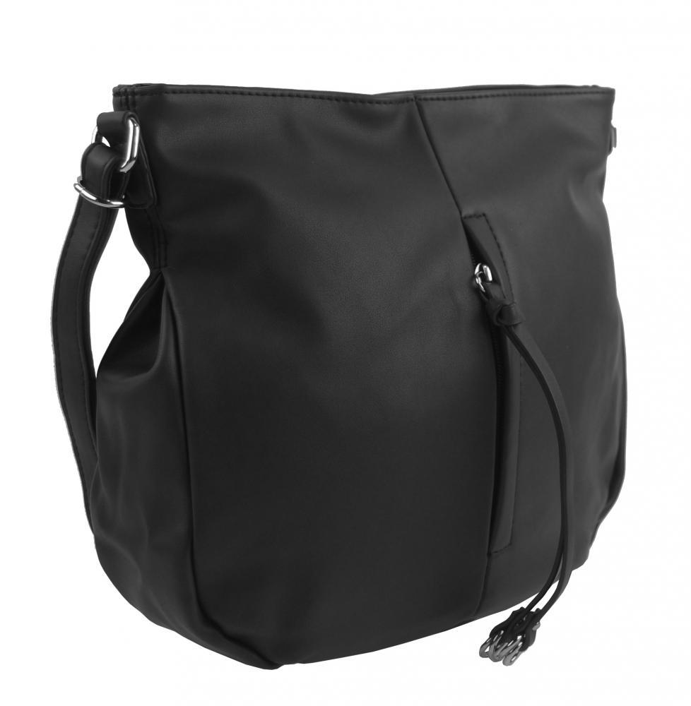 Černá středně velká crossbody dámská kabelka 5049-BB