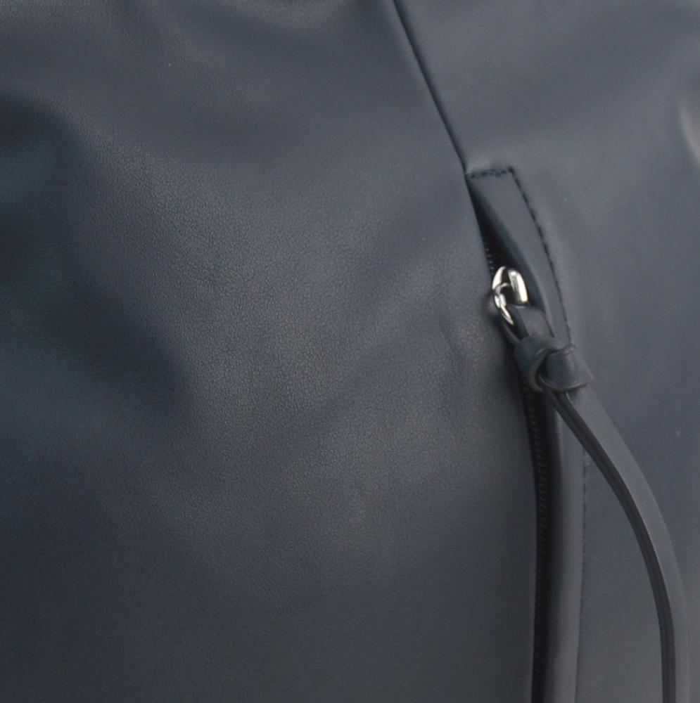 Tmavě modrá středně velká crossbody dámská kabelka 5049-BB