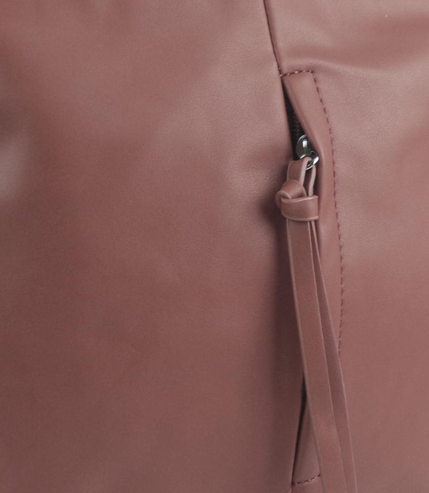 Starorůžová středně velká crossbody dámská kabelka 5049-BB