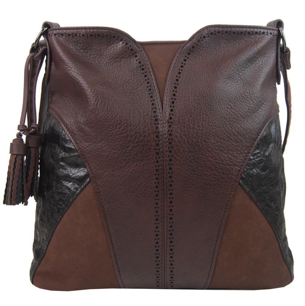 BELLA BELLY Crossbody dámská kabelka tmavě hnědá 5100-BB