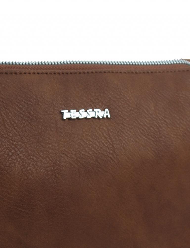 Tmavě hnědá menší crossbody dámská kabelka se třemi oddíly 5204-TS