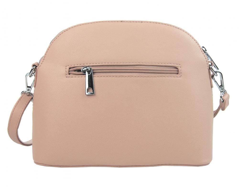 Růžová crossbody dámská kabelka s čelní kapsou TESSRA