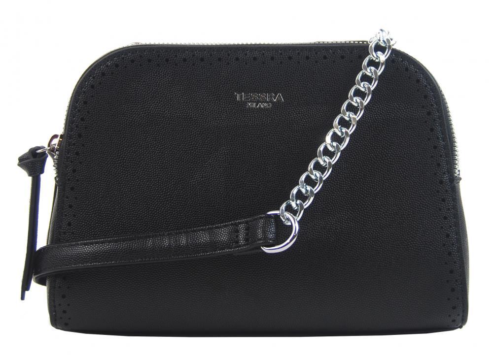 Černá crossbody dámská kabelka se dvěma oddíly TESSRA