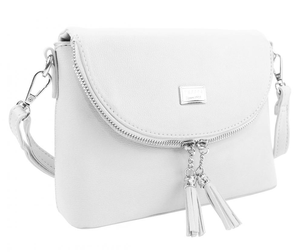 Bílá menší crossbody dámská kabelka 5451-TS