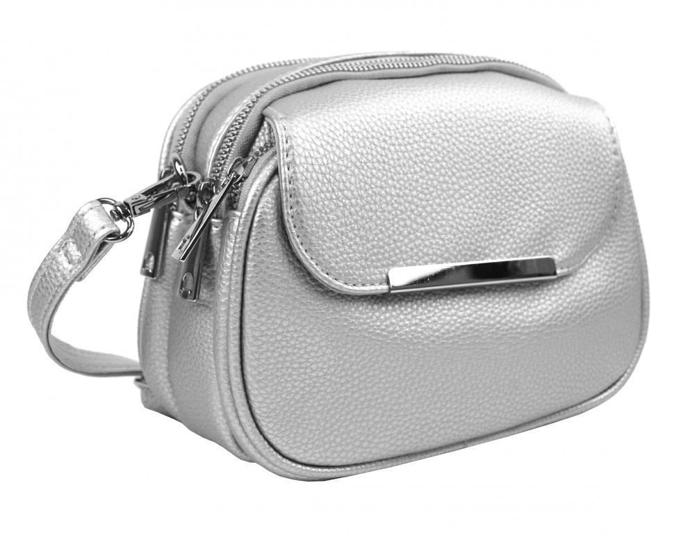 MARIA MARNI Crossbody dámská kabelka stříbrná 5485-BB